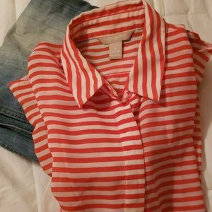 Banana Republic Sleeveless striped shirt